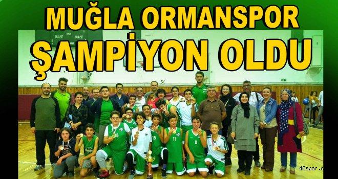Muğla Ormanspor şampiyon oldu!