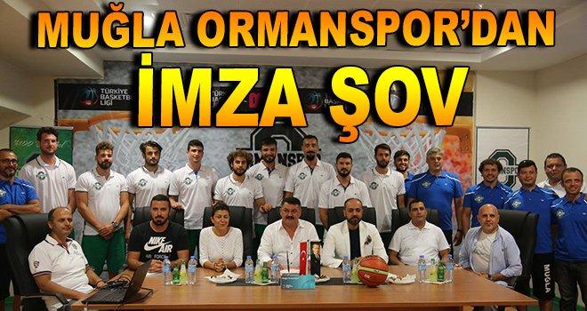 Muğla Ormanspor'dan imza şov!