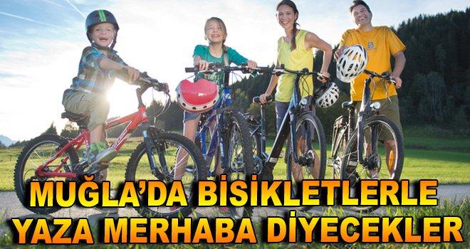 Muğla'da Bisikletlerle Yaza Merhaba Diyecekler