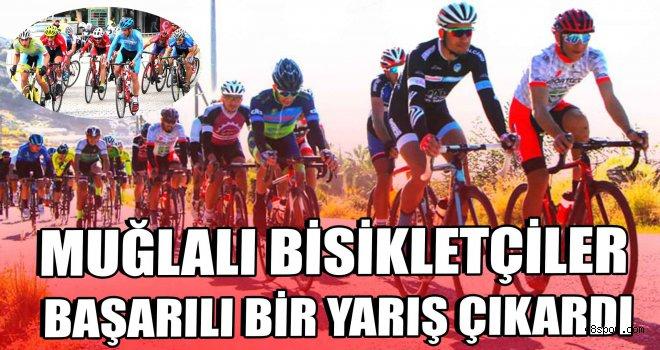 Muğlalı bisikletçiler başarılı bir yarış çıkardı