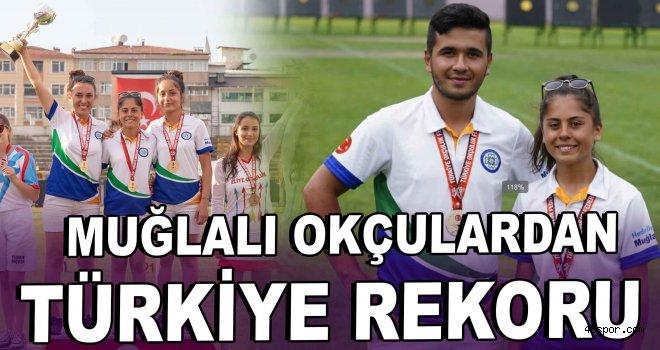 Muğlalı okçulardan Türkiye rekoru