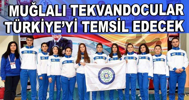 Muğlalı tekvandocular Türkiye'yi temsil edecek