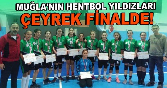 Muğla'nın hentbol yıldızları çeyrek finalde!