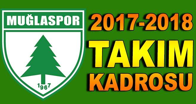 Muğlaspor 2017-2018 takım kadrosu