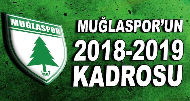 Muğlaspor 2018-2019 kadrosu