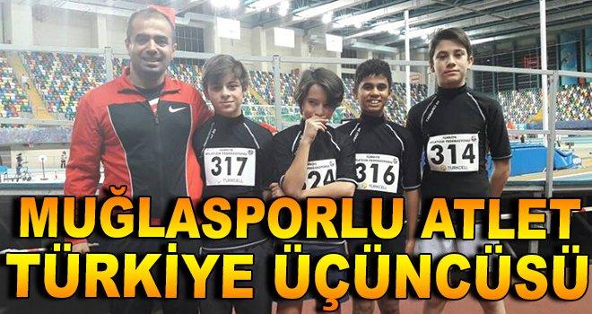 Muğlasporlu Atlet Türkiye Üçüncüsü
