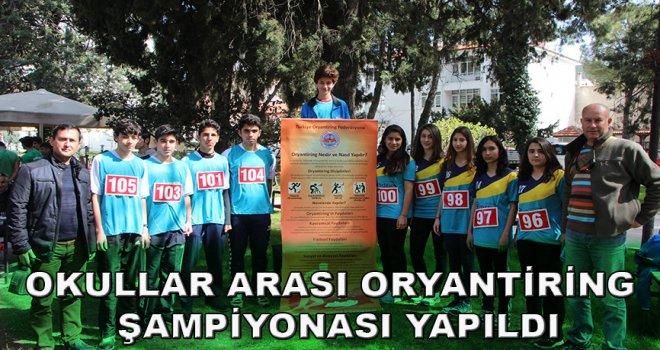Okullar Arası Oryantiring Şampiyonası Yapıldı