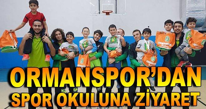 Ormanspor'dan spor okuluna ziyaret