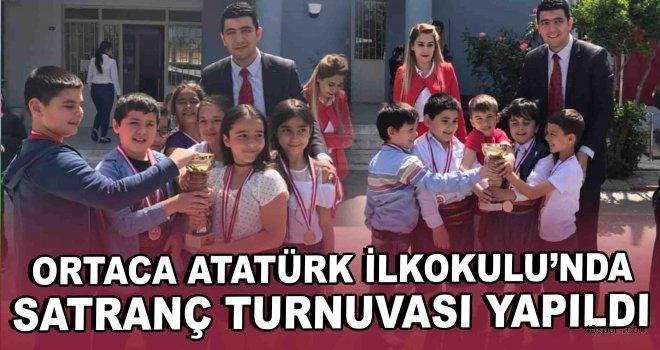 Ortaca Atatürk İlkokulu'nda satranç turnuvası yapıldı