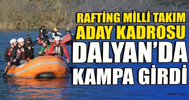 Rafting Milli Takım aday kadrosu Dalyan'da kampa girdi