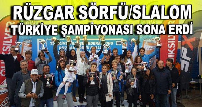 Rüzgar Sörfü/Slalom Türkiye Şampiyonası sona erdi