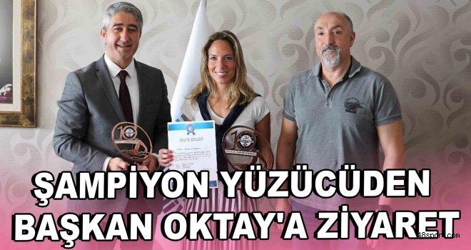 Şampiyon yüzücüden Başkan Oktay'a ziyaret