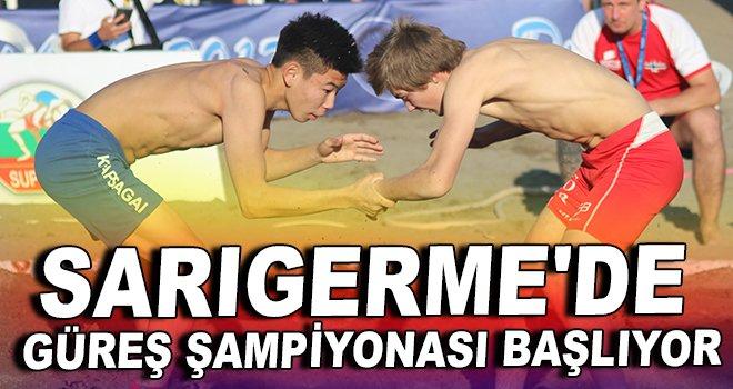 Sarıgerme'de güreş şampiyonası başlıyor