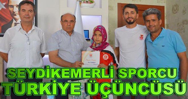Seydikemerli Sporcu Türkiye Üçüncüsü