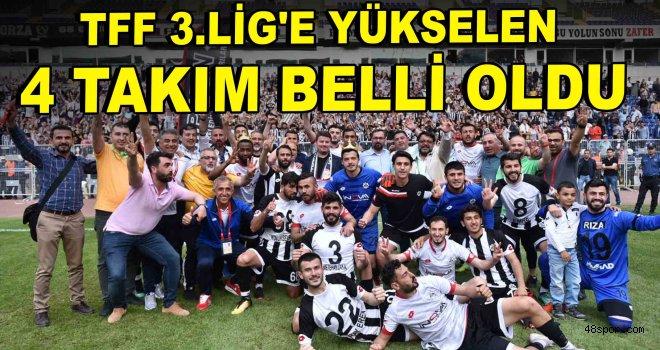 TFF 3.Lig'e yükselen 4 takım belli oldu