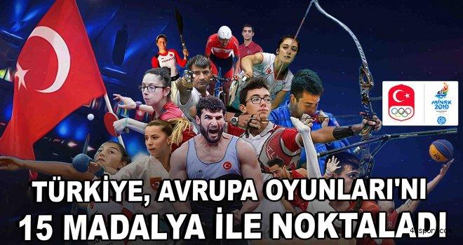 Türkiye, Avrupa Oyunları'nı 15 madalya ile noktaladı