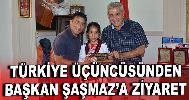 Türkiye üçüncüsünden Başkan Şaşmaz'a ziyaret