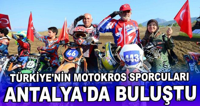 Türkiye'nin motokros sporcuları Antalya'da buluştu
