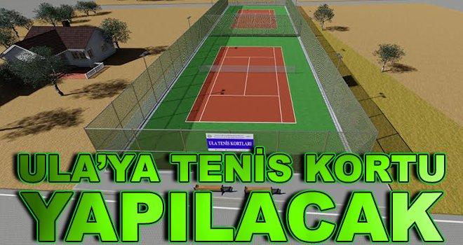 Ula'ya Tenis Kortu Yapılacak