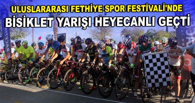 Uluslararası Fethiye Spor Festivali'nde bisiklet yarışı heyecanlı geçti