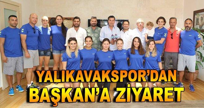 Yalıkavakspor'dan Başkan Kocadon'a ziyaret