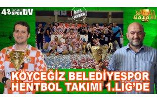 Sporda Başarı 1.Bölüm | Köyceğiz Belediyespor Hentbol Takımı 1.Lig'de